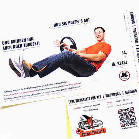 Fuchs KFZ Service | Flyer | Gestaltung & Druck