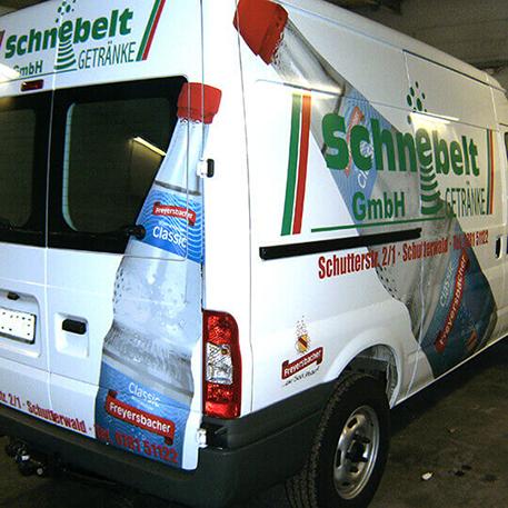 Getränke Schnebelt | Gestaltung & KFZ-Beschriftung