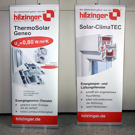 Hilzinger GmbH | Roll-Up | Druck