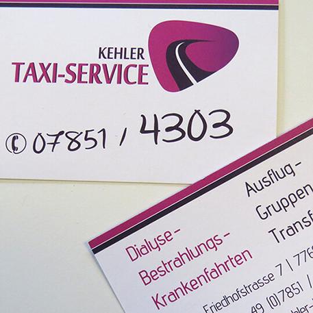 Kehler Taxi Service | Logodesign & Geschäftsausstattung | Gestaltung & Druck