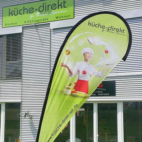 Küche Direkt | Beachflag | Gestaltung & Druck