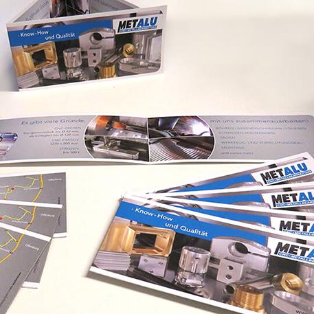 Metalu | Logodesign & Faltblatt | Gestaltung & Druck