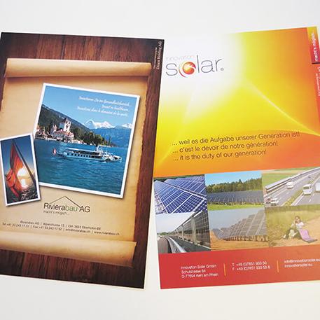 Rivierabau AG & Innovation Solar GmbH Flyer | Druck