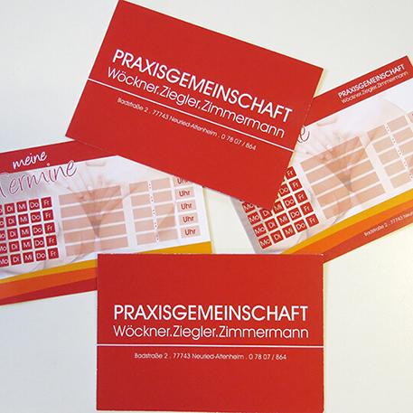 Praxisgemeinschaft Wöckner Ziegler Zimmermann | Visitenkarte | Gestaltung & Druck