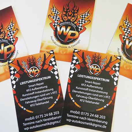 WP Autokosmetik | Logodesign & Visitenkarten | Gestaltung & Druck
