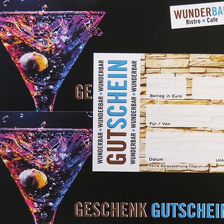WunderBar | Getränkekarte & Gutscheine | Gestaltung & Druck